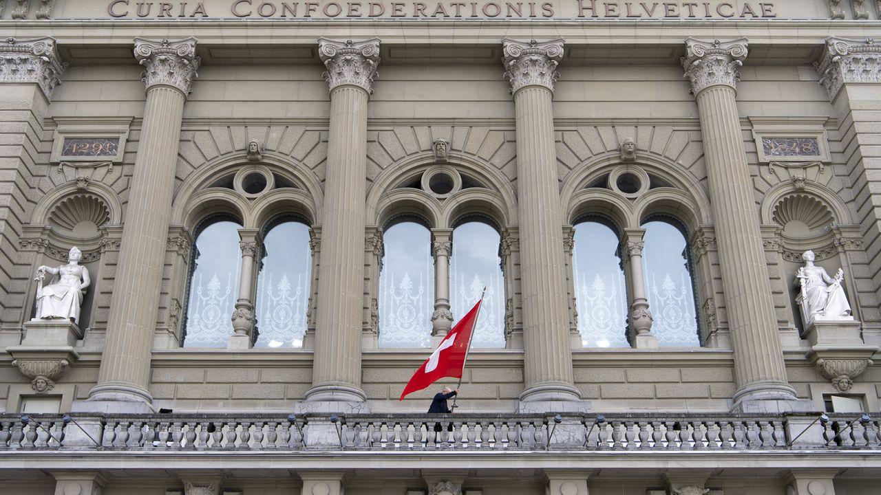 La pandémie de coronavirus et les restrictions mises en place ont pesé de tout leur poids sur l'économie suisse. [Anthony Anex - Keystone]