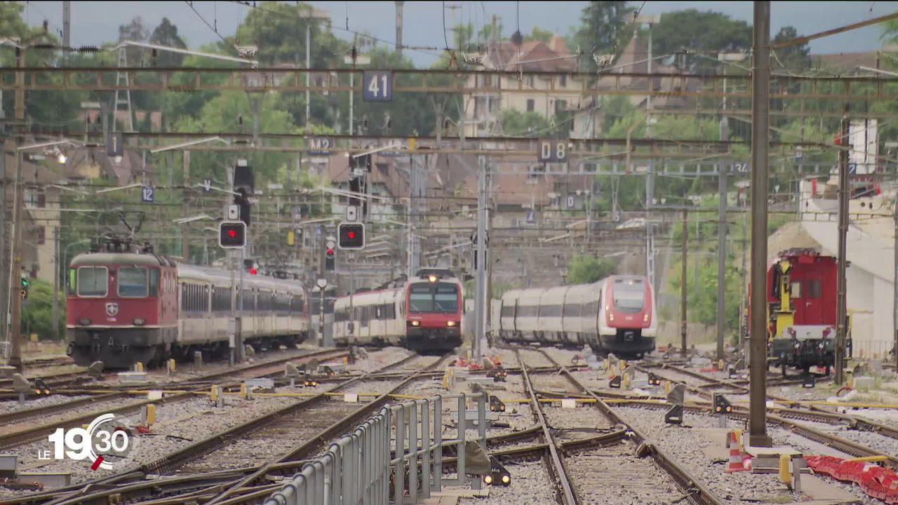 Le Canton de Vaud veut doubler la ligne ferroviaire entre Lausanne et Genève d'ici 2050. [RTS]