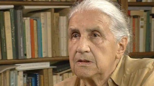 Jeanne Hersch interviewée dans les Grands entretiens en 2000. [RTS]