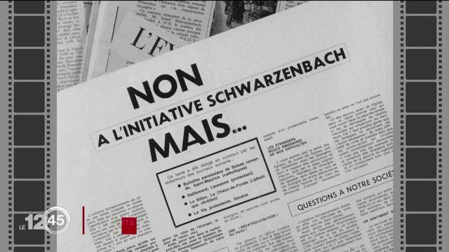 Passé re-composé: l'initiative Schwarzenbach refusée il y a 25 ans [RTS]