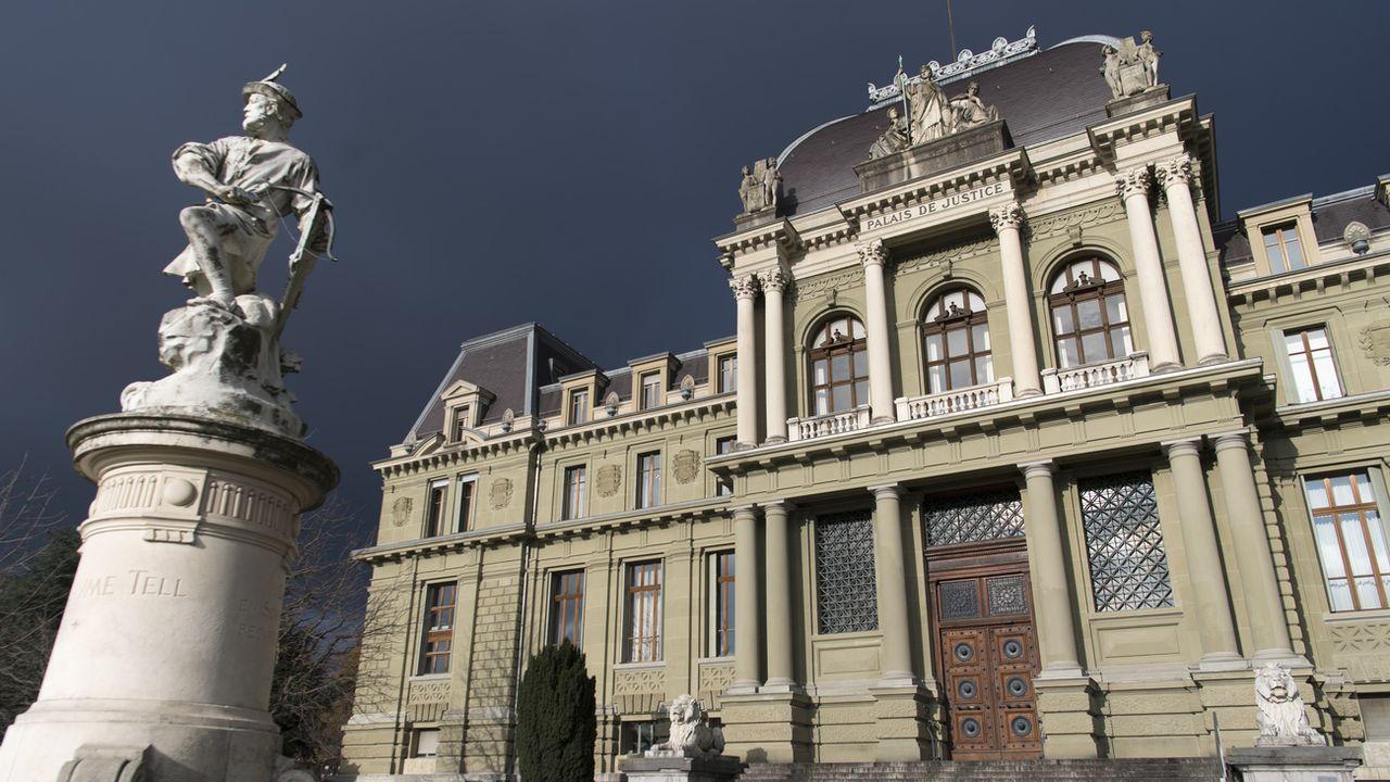 Le Palais de Justice de Montbenon à Lausanne. [Laurent Gillieron - Keystone]