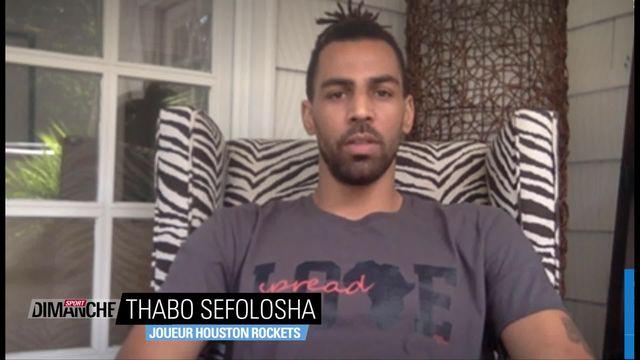 Thabo Sefolosha: le soutien du monde du sport à l'actualité et la reprise de la NBA [RTS]