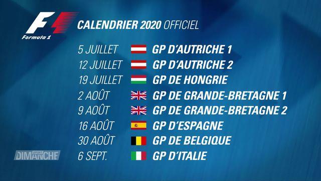 Formule 1: la saison va reprendre début juillet [RTS]