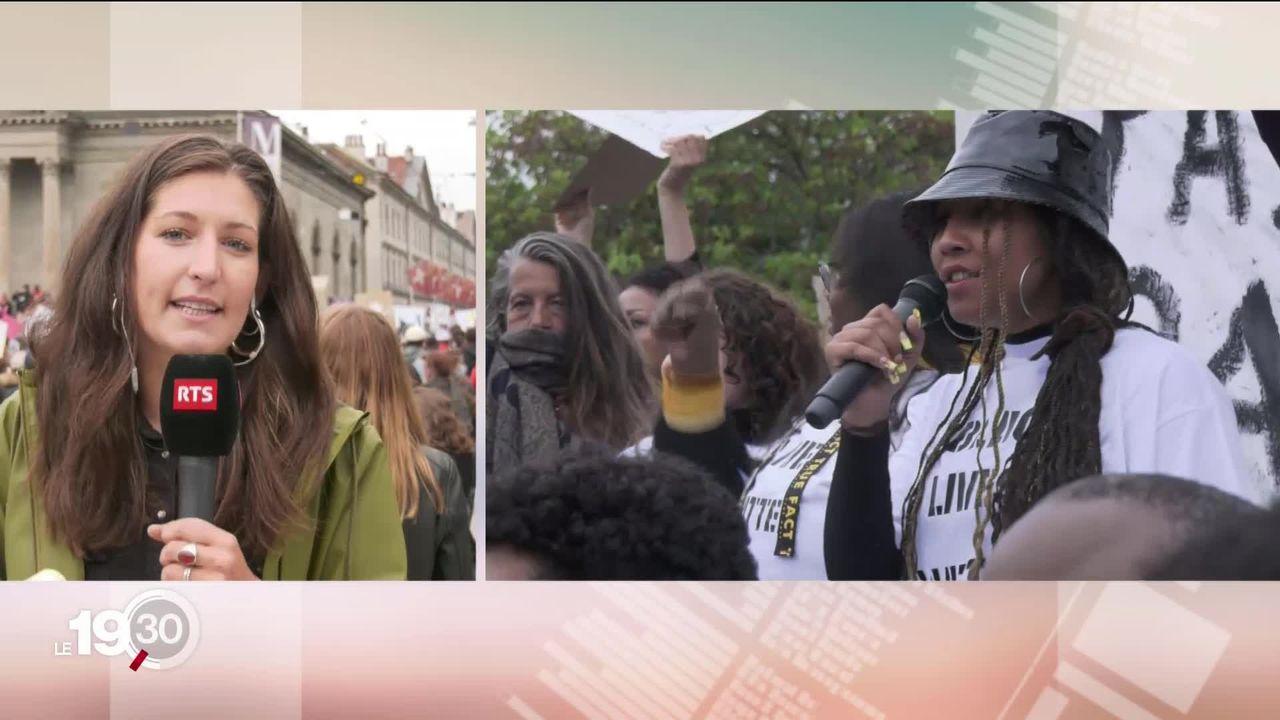 Mardi soir à Genève, des milliers de personnes se sont rassemblées au centre-ville pour manifester contre le racisme. [RTS]