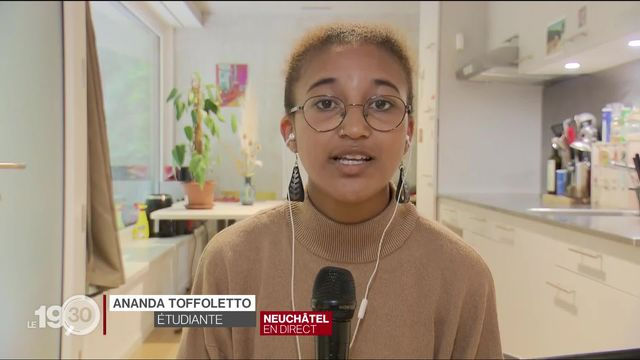 """Ananda Toffoletto: """"On ne peut pas dire qu'il n'y a pas de racisme en Suisse, le racisme y est plus caché, abstrait."""" [RTS]"""