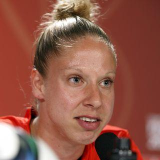 Caroline Abbé, capitaine de l'équipe de Suisse. [Salvatore Di Nolfi - Keystone]