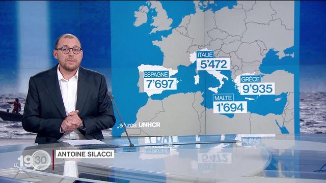 """Antoine Silacci: """"Cette année, près de 25'000 migrants et réfugiés ont rejoint l'Europe, principalement par la mer"""" [RTS]"""
