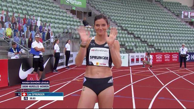 300m haies: Léa Sprunger troisième lors de sa rentrée [RTS]