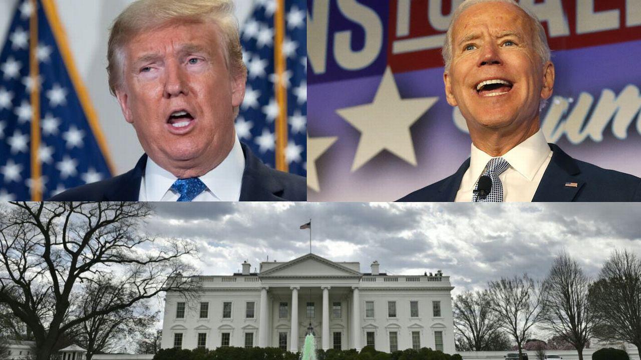 Donald Trump et Joe Biden dans la course à la Maison Blanche. [afp/Keystone]