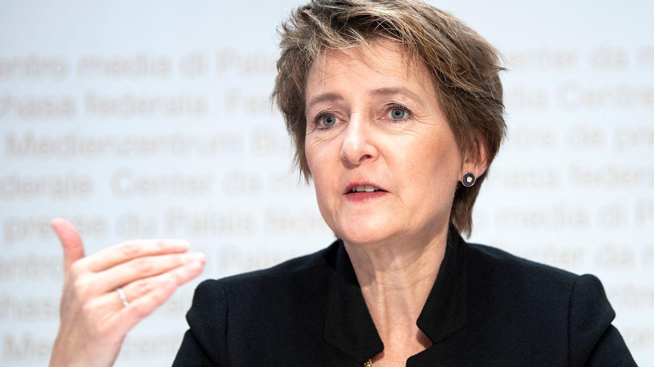 La conseillère fédérale Simonetta Sommaruga. [Peter Schneider - Keystone]