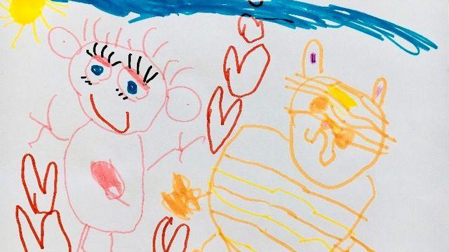 """""""Avoir un animal domestique"""", dessin réalisé par Sacha. [Sacha - RTS]"""