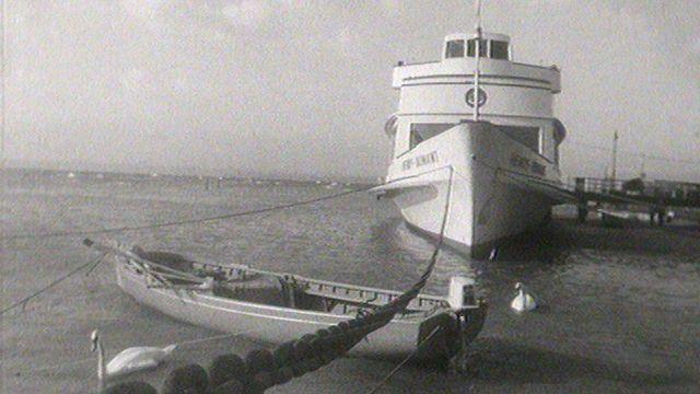 Hivernage des bateaux de la CGN en 1969. [RTS]