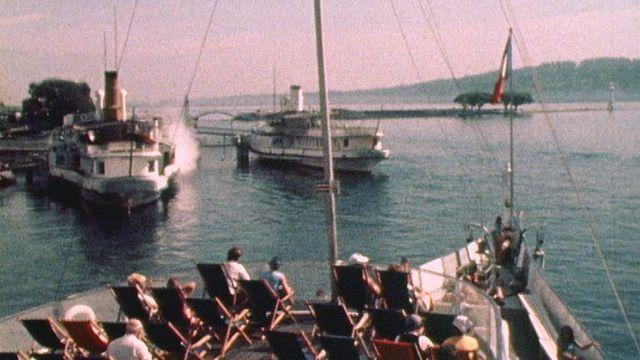 Croisière sur le lac Lémane en 1976. [RTS]