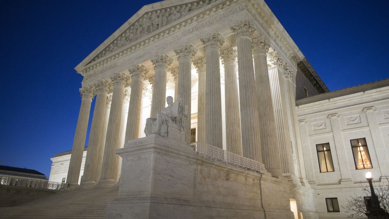 Le bâtiment de la Cour suprême américaine à Washington. [Michael Reynolds - EPA/Keystone]