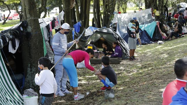 La situation est difficile pour les migrants vénézuéliens en Colombie. [Mauricio Duenas Castaneda - EPA/Keystone]