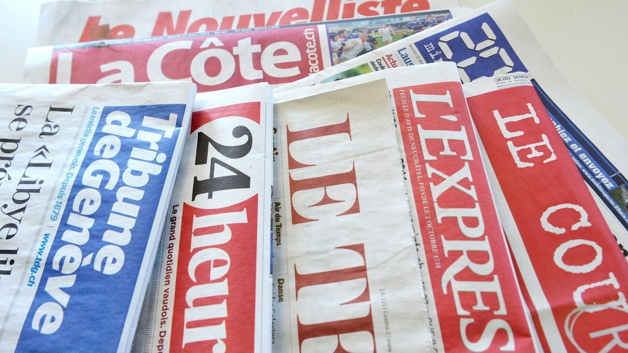 Le Conseil fédéral veut soutenir les médias avec 50 millions (image d'illustration). [Dominic Favre - Keystone]