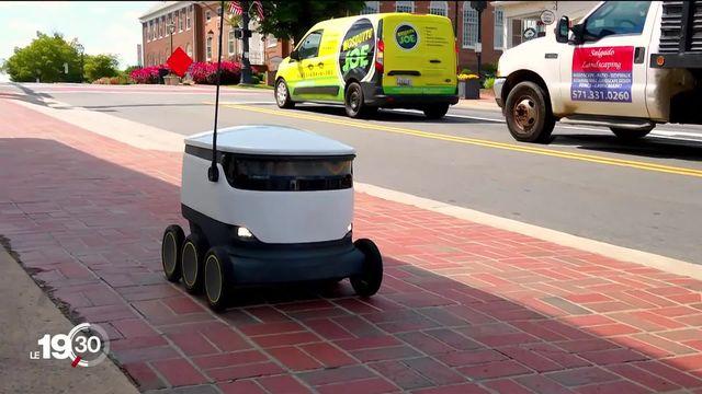 A Fairfax (Etats-Unis), des robots vous livrent votre repas à domicile depuis la crise du coronavirus [RTS]