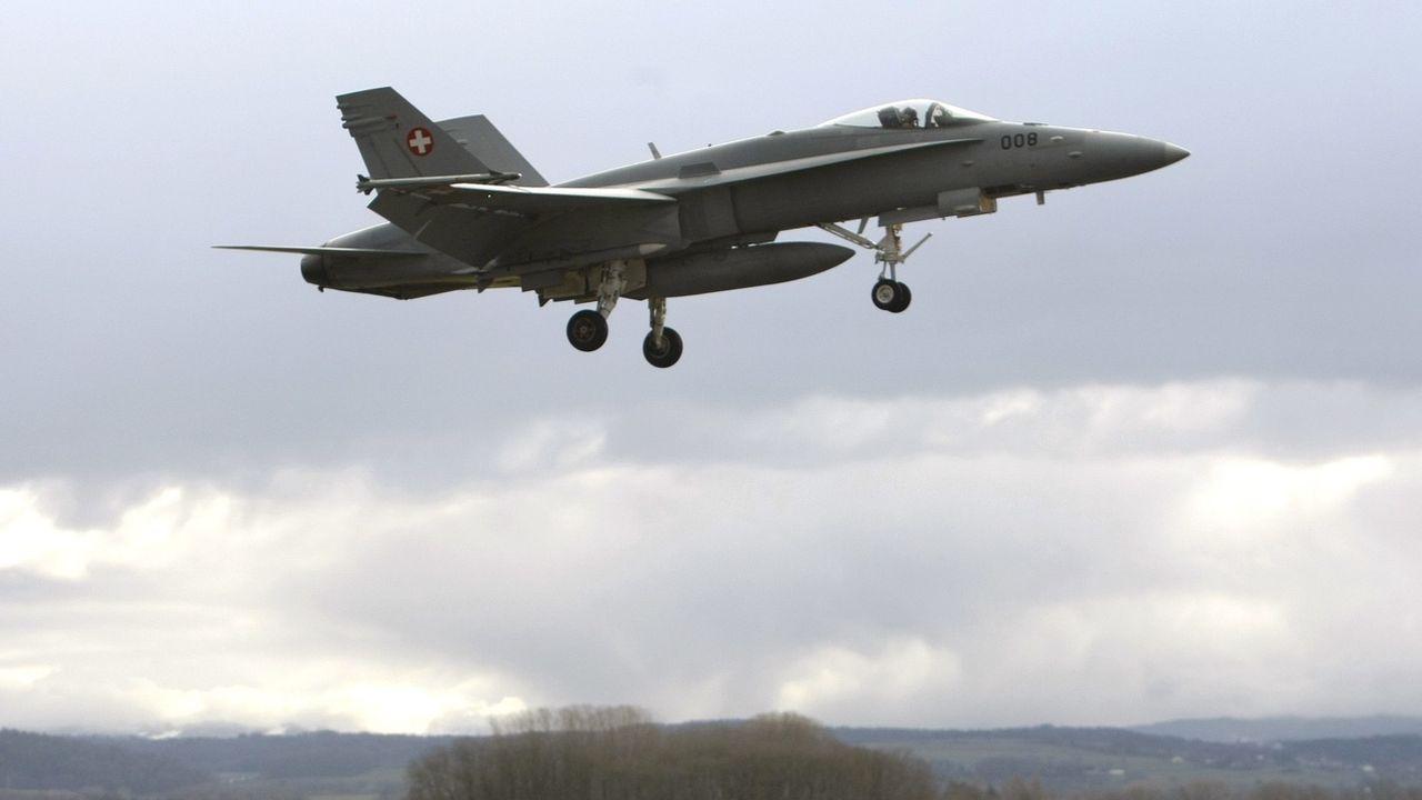 Le peuple se prononcera le 27 septembre sur l'achat de nouveaux avions de combat. [Dominic Favre - KEYSTONE]