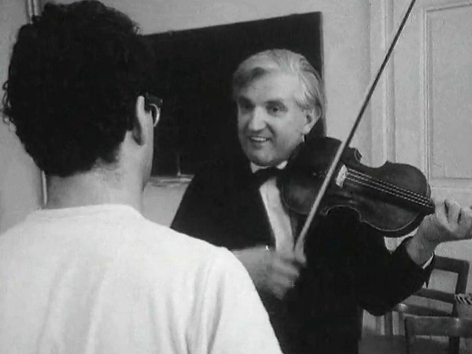 En master class avec Tibor Varga en Valais en 1967. [RTS]
