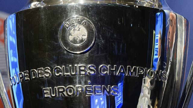 Le trophée de la Ligue des champions. [Laurent Gillieron - Keystone]