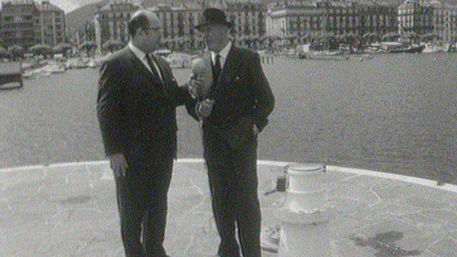 Visite du Jet d'eau en 1966. [RTS]