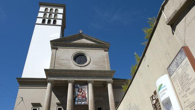 La basilique Notre-Dame de Lausanne, en septembre 2010. [Laurent Gillieron - Keystone]