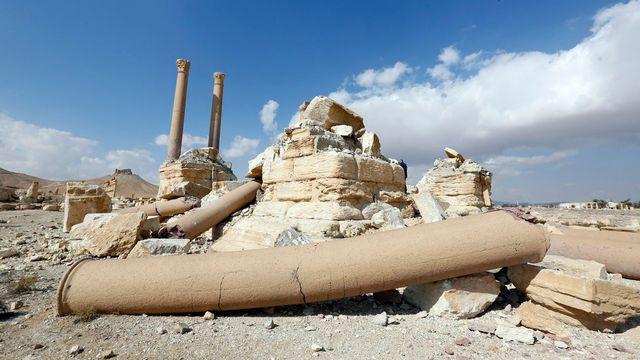 Une vue des dommages perpétrés à Palmyre par le groupe Etat islamique. [EPA/Youssef Badawi - Keystone]