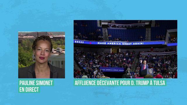 Trump renoue avec son électorat à Tulsa (vidéo) [RTS]