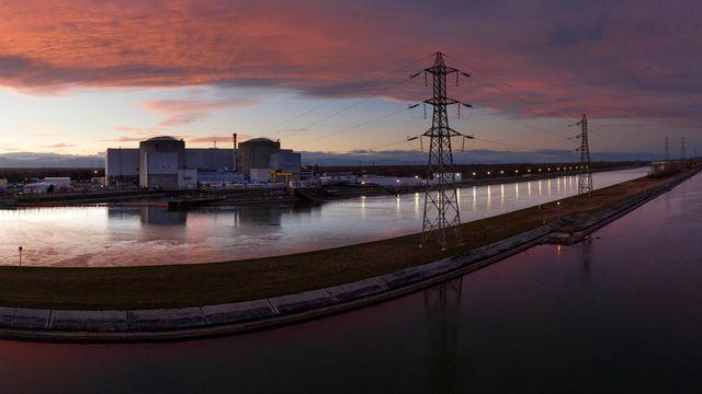 Fessenheim, la plus vieille centrale nucléaire française, sera arrêtée le mardi 30 juin 2020. [Sébastien Bozon - AFP]