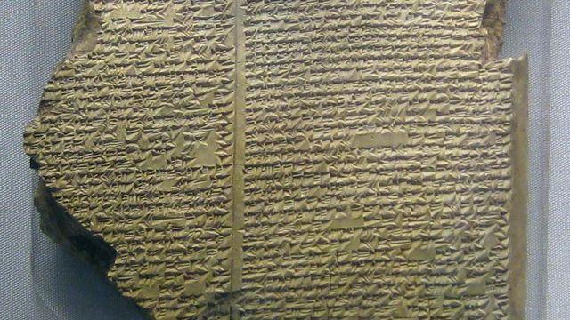 Epopée de Gilgamesh, tablette 11 récit du Déluge. [British Museum -  CC0 1.0 Universal Wikimedia]