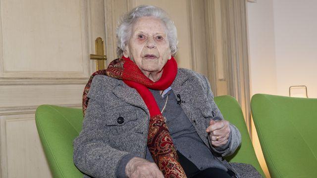 Le 7 février 2020, Noëlla Rouget a reçu à Genève les insignes de Grand-Croix de l'ordre national du Mérite, l'une des plus hautes distinctions de l'Etat français. [Martial Trezzini - Keystone]