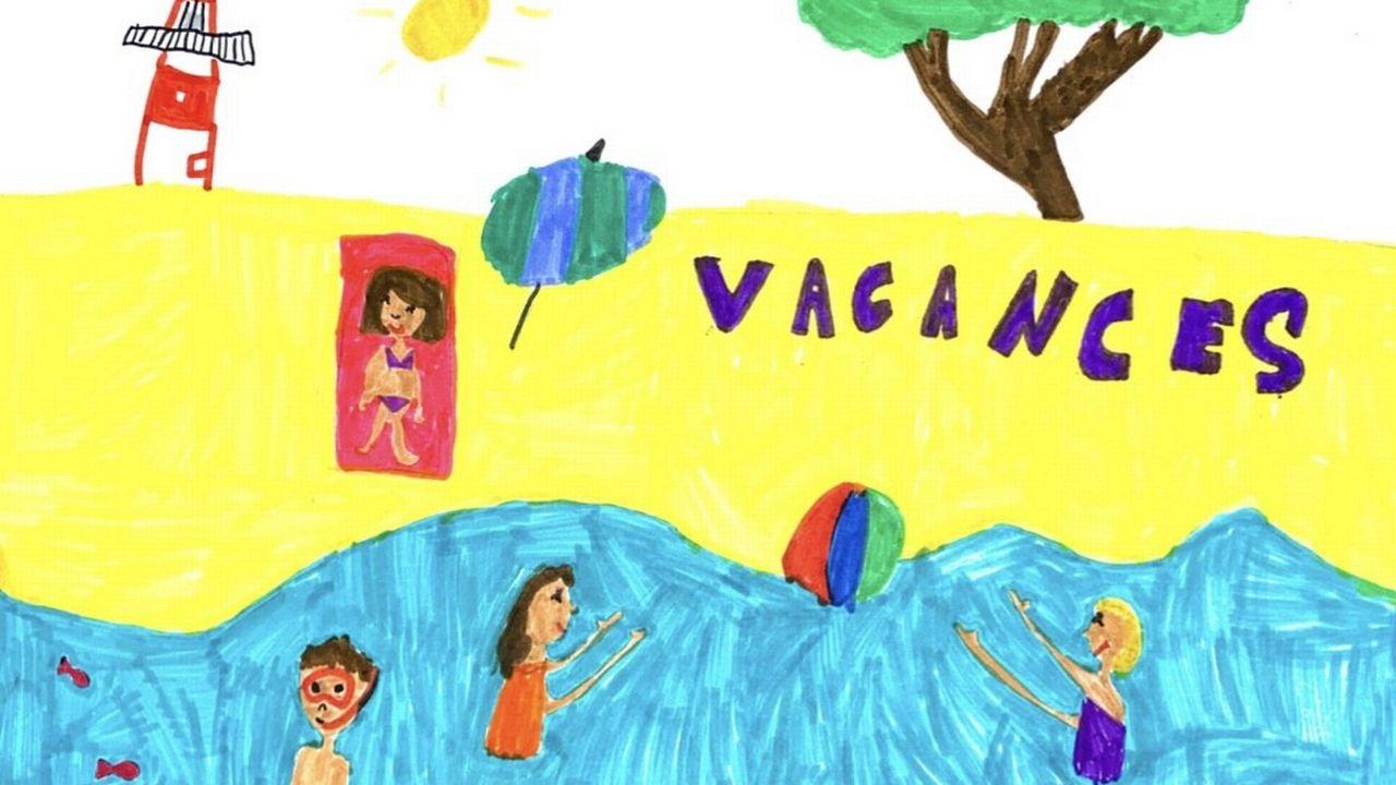 """""""Les vacances"""", un dessin réalisé par Sixtine. [Sixtine]"""