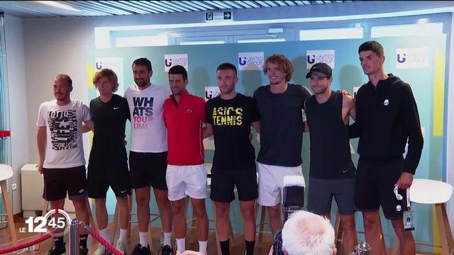 Le tournoi caritatif de Novak Djokovic est entâché par plusieurs contaminations au Covid-19. [RTS]