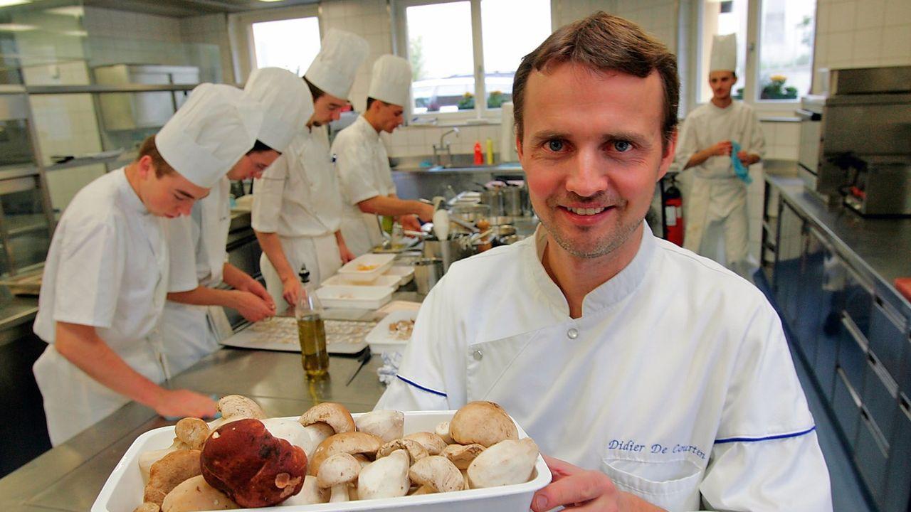 Le chef Didier de Courten ferme son restaurant gastronomique [Olivier Maire - Keystone]