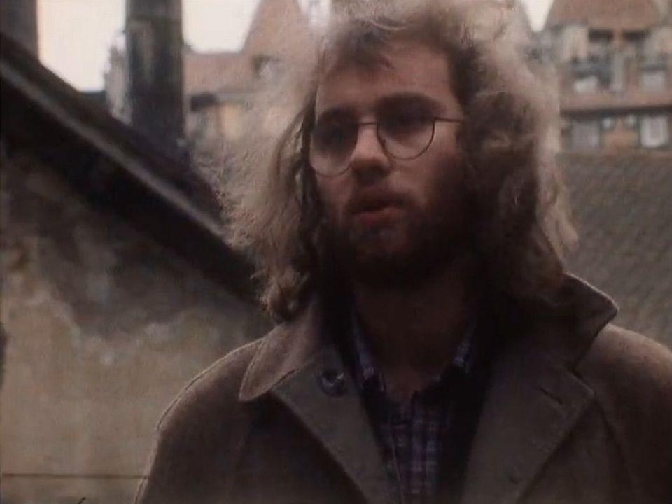 Jean Marc Richard, voix du centre autonome de Lausanne en 1982.