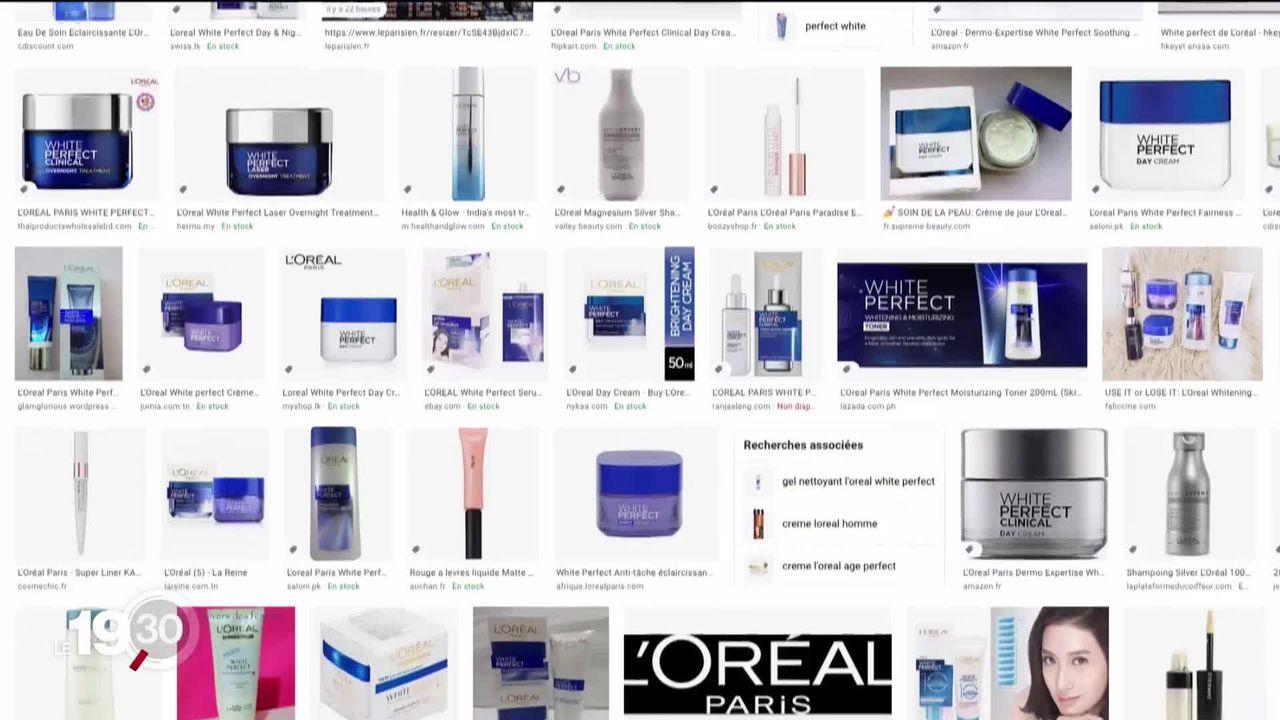 """De nombreuses marques, L'Oréal en tête, retirent le mot """"blanchissant"""" de leurs étiquettes. [RTS]"""