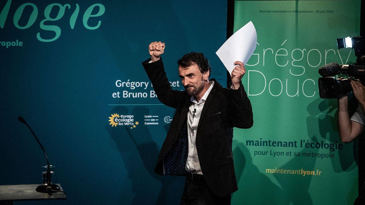 L'écologiste Grégory Doucet se'empare de la mairie de Lyon. [Jeff Pachoud - AFP]