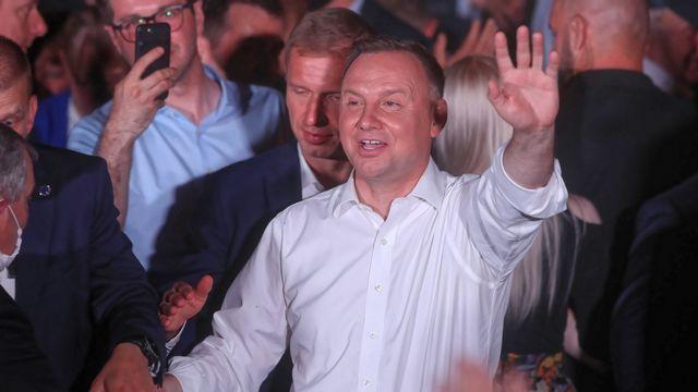 Le président polonais, le conservateur Andrzej Duda, est arrivé en tête du premier tour de l'élection présidentielle [EPA/Roman Zawistowski - Keystone]