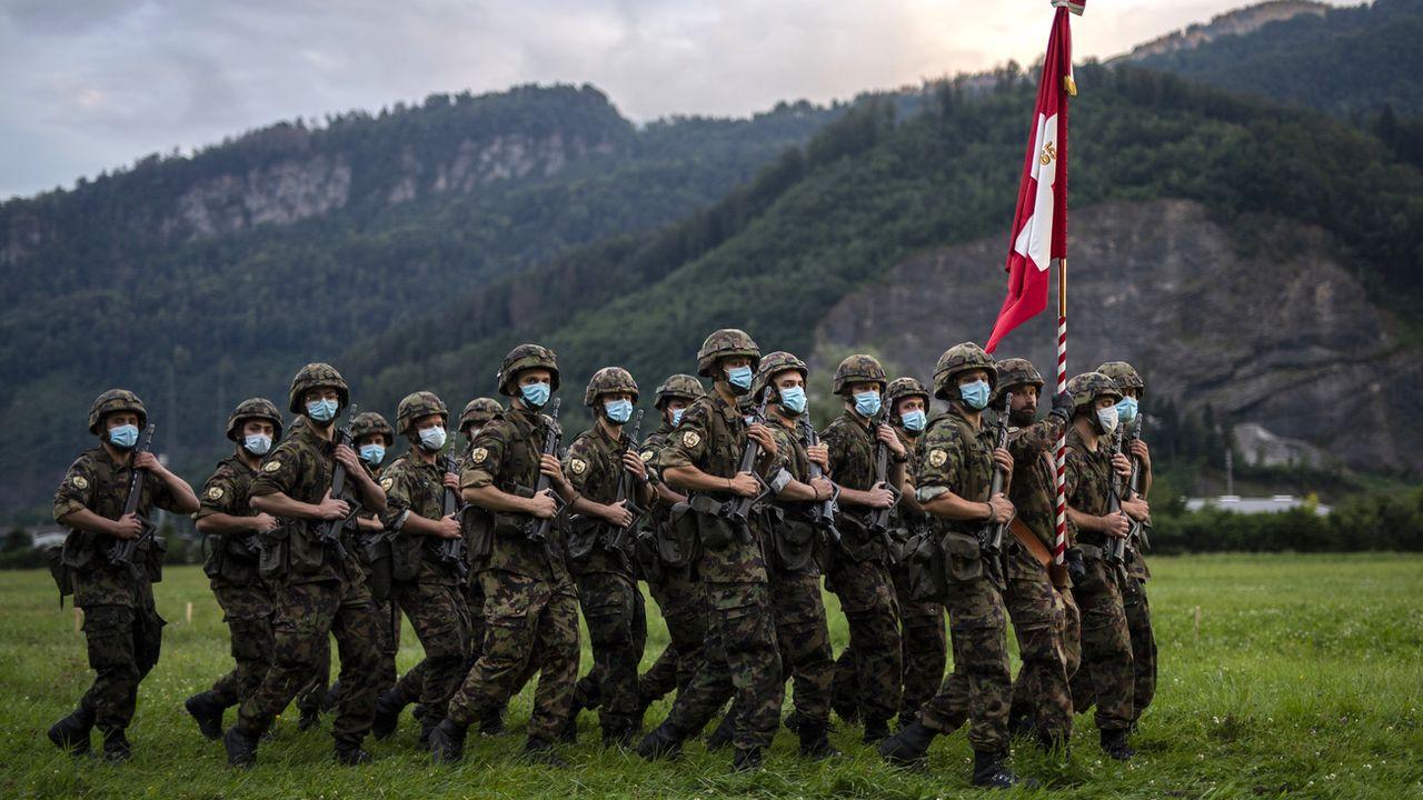 12'500 jeunes et cadres de l'armée entament les écoles de recrues d'été (image d'illustration). [Gian Ehrenzeller - Keystone]