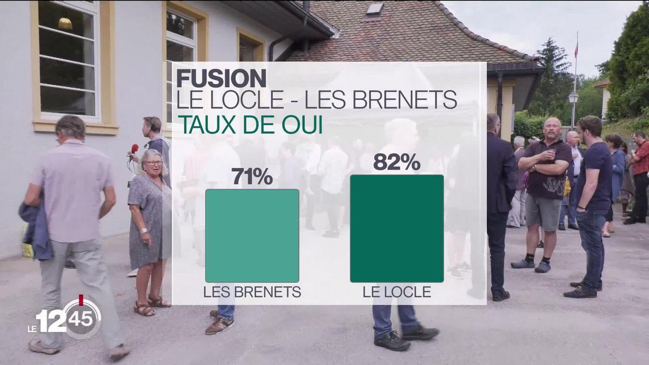 Le Locle et Les Brenets (NE) ont largement accepté leur fusion [RTS]