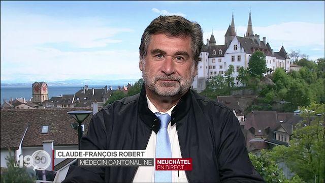 Covid en Suisse, le point avec Claude-François Robert, médecin cantonal de Neuchâtel. (1) [RTS]