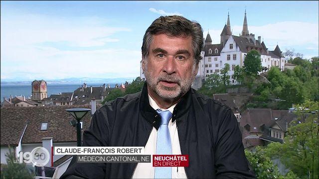 Covid en Suisse, le point avec Claude-François Robert, médecin cantonal de Neuchâtel. (2) [RTS]