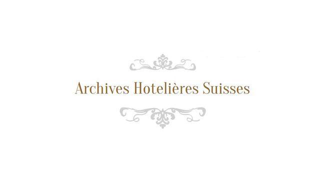 Le logo des Archives Hôtelières Suisses [Archives Hôtelières Suisses - www.hotelarchiv.ch]