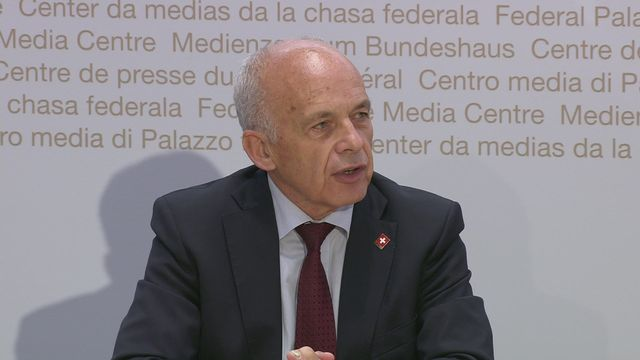 L'intervention d'Ueli Maurer, conseiller fédéral en charge des Finances [RTS]