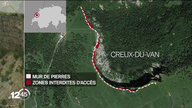 Les autorités neuchâteloises et vaudoises prennent des mesures urgentes pour protéger le haut plateau du Creux-du-Van [RTS]