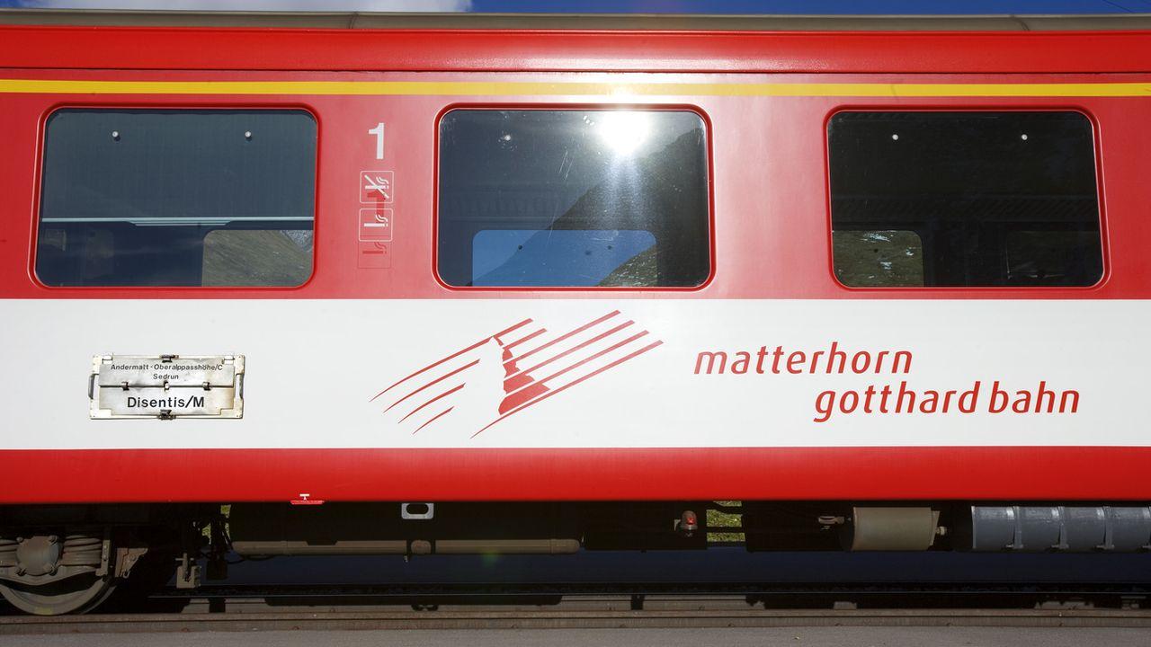 Un train des Matterhorn Gotthard Bahn (image d'illustration). [Martin Ruetschi - Keystone]