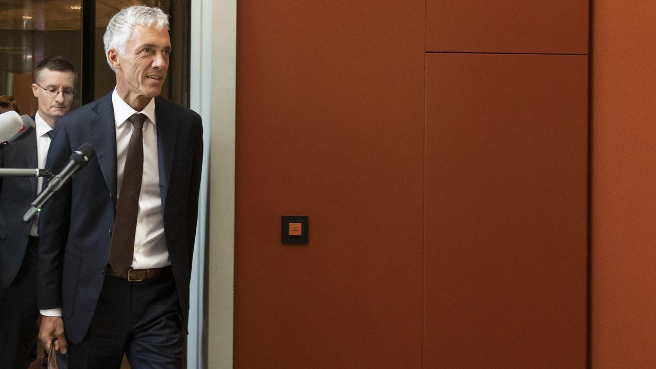 Le procureur général de la Confédération, photographié ici le 29 mai 2020 à Berne. [Peter Klaunzer - Keystone]