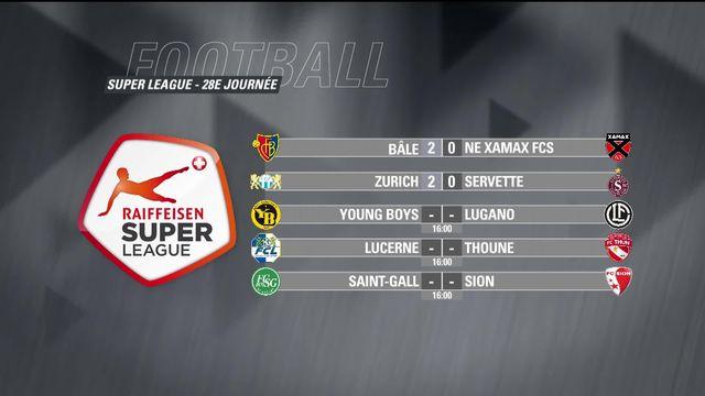 Super League, 28e journée : résultats et classement [RTS]