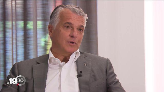 L'interview du dimanche: Sergio Ermotti, directeur d'UBS. [RTS]