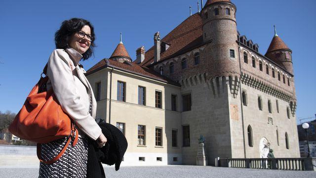 La conseillère d'Etat vaudoise PLR Christelle Luisier est chargée notamment des relations entre canton et communes. [Laurent Gillieron - Keystone]
